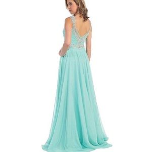 Flowy Prom Formal Dress